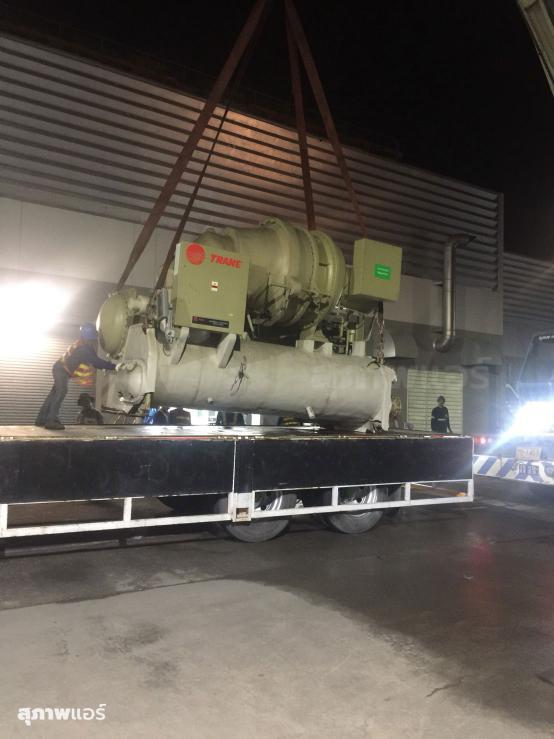 งานรื้อถอน Trane Water Cooled Chiller CVHG 480 Ton